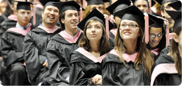 Graduates at the 2009 commencement.