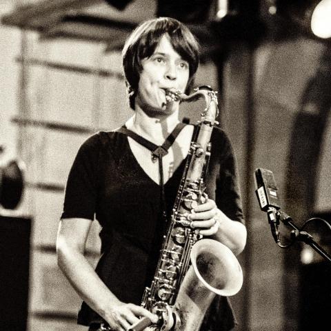 Photo of Ingrid Laubrock