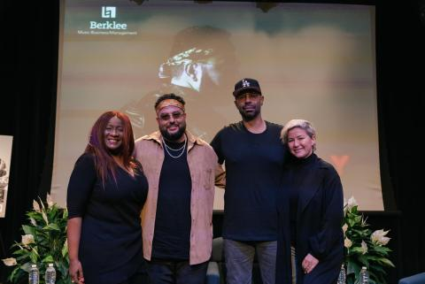Panel members at 15th Annual Business of Hip-Hop Music Symposium