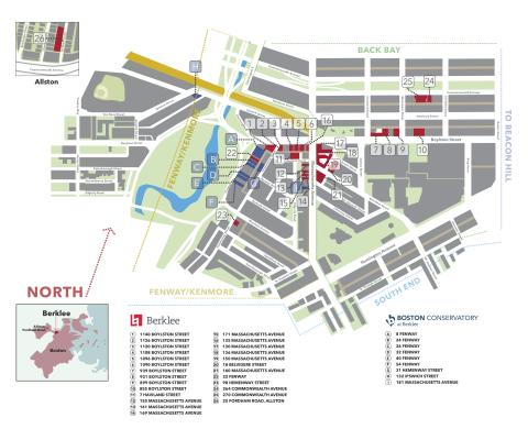 Berklee Campus Map